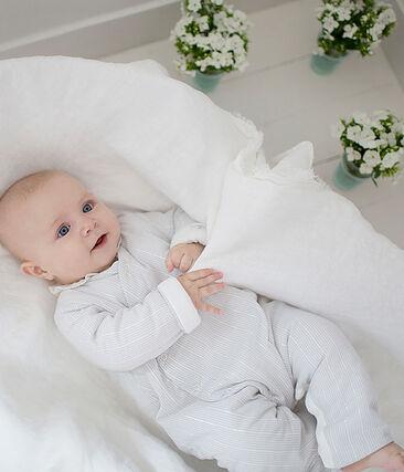 Combinaison longue bébé garçon rayée