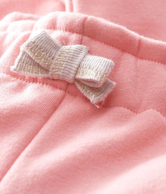 Pantalon bébé fille en maille velours rose Charme
