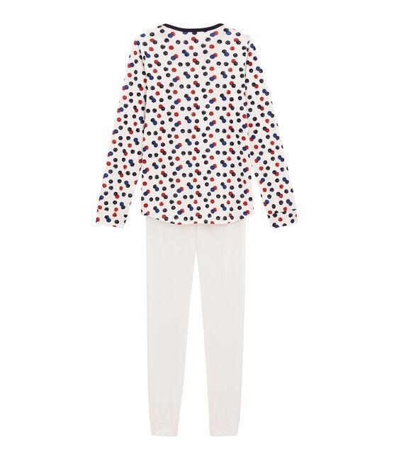 Pyjama fille blanc Marshmallow / blanc Multico