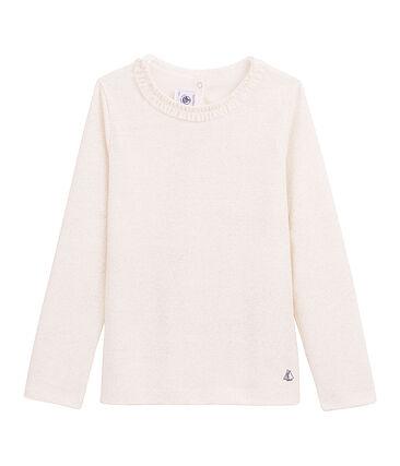 Tee-shirt Manches longues mileraies blanc Marshmallow / rose Copper