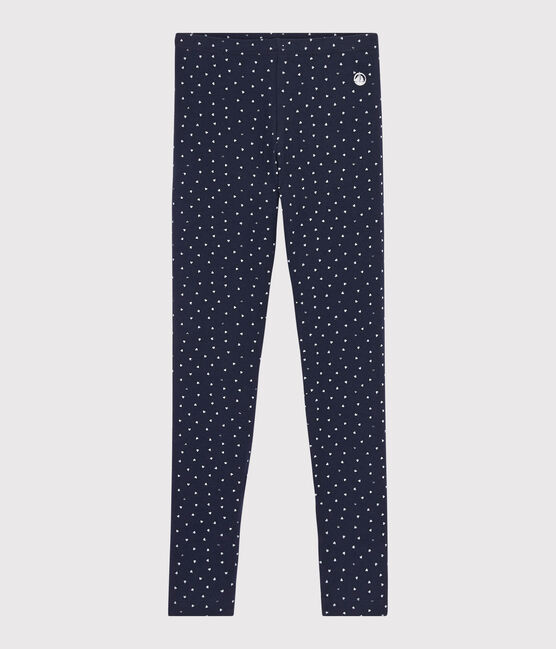 Legging en jersey enfant fille bleu Smoking / blanc Multico