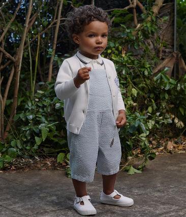 Salopette courte bébé garçon rayée