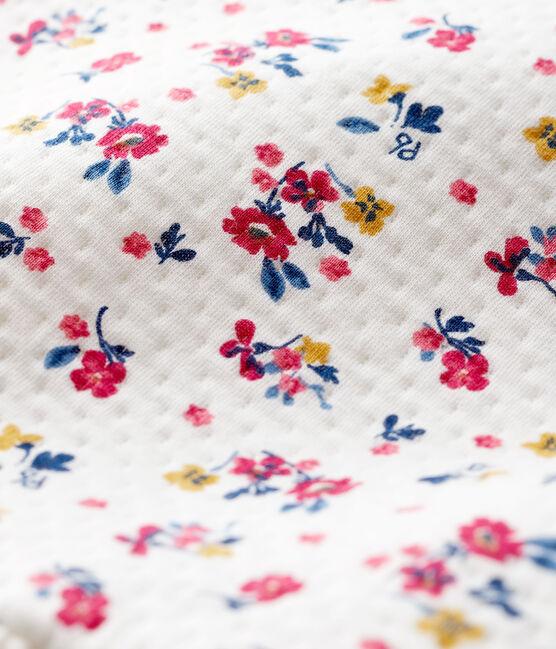 Robe manches longues bébé fille blanc Marshmallow / blanc Multico