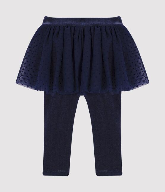Legging bébé avec jupe en tulle bleu Smoking