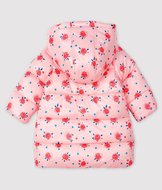 Doudoune matelassée bébé fille rose Minois / blanc Multico