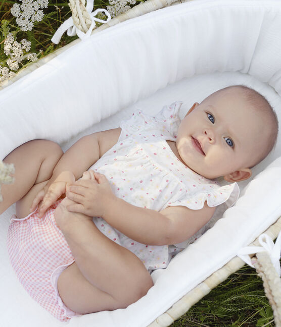 Ensemble 2 pièces bébé fille blanc Marshmallow / blanc Multico