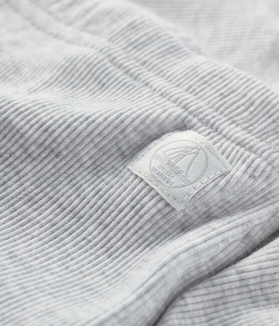 Caleçon bébé en côte 2x2 gris Beluga