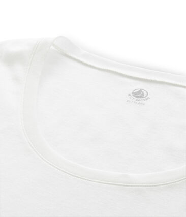 Tee shirt côte légère femme blanc Marshmallow