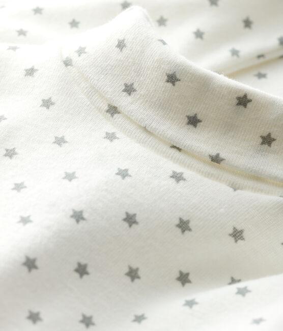 Body manches longues bébé garçon blanc Marshmallow / gris Gris