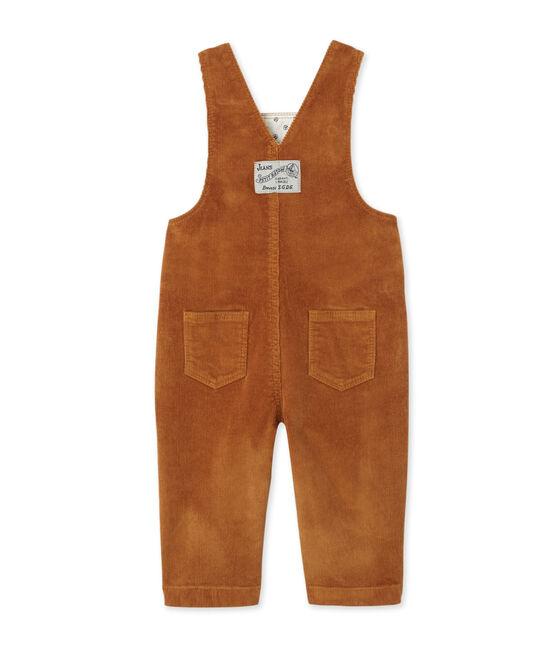 Salopette bébé garçon en velours stretch marron Cuivre