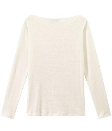 T-shirt femme manches longues en lin irisé