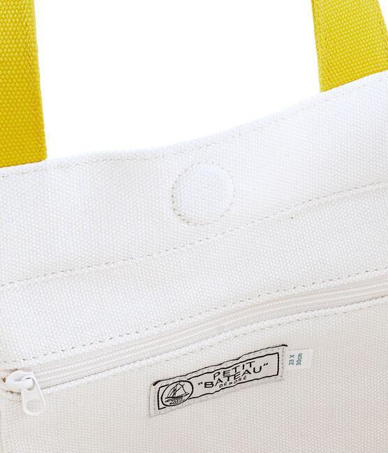 Cabas blanc Marshmallow / jaune Shine
