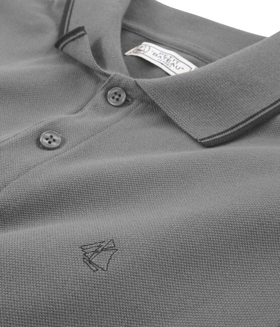 Polo manches courtes homme gris Beluga Chine