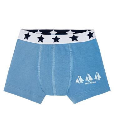 Boxer petit garçon bleu Alaska