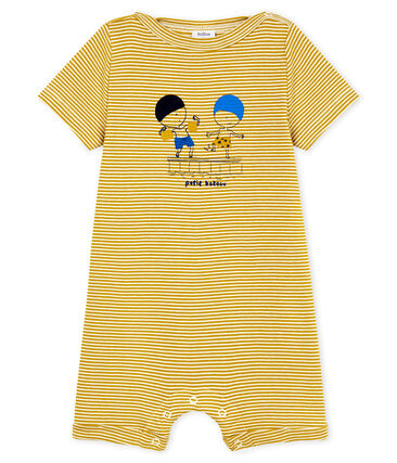 Combicourt bébé garçon milleraies jaune Bamboo / blanc Marshmallow Cn