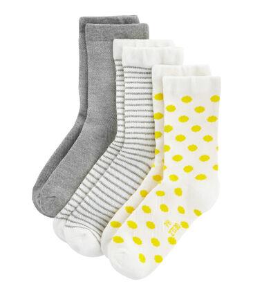 Lot de 3 paires de chaussettes enfant fille