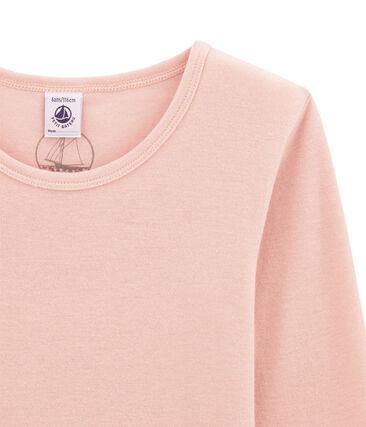 tee-shirt manches longues petite fille en laine et coton