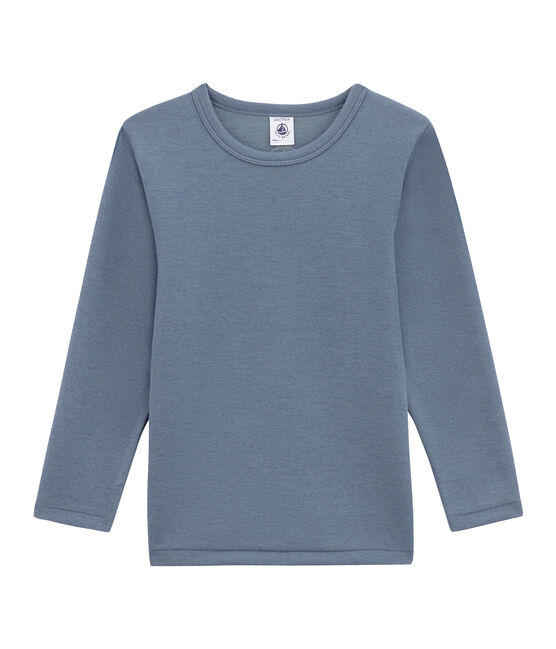 tee-shirt manches longues petit garçon bleu Turquin