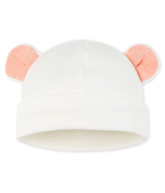 Bonnet bébé en côte blanc Marshmallow