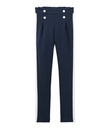 Pantalon enfant fille bleu Haddock