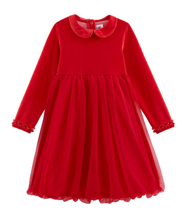 Robe enfant fille rouge Terkuit