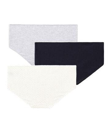 Trio de shorties fille en coton stretch