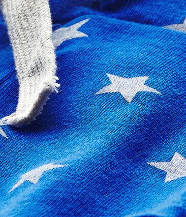 Short bébé garçon imprimé bleu Perse / blanc Marshmallow