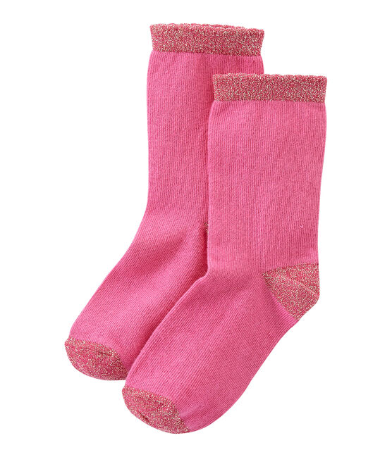 Chaussettes fille unies rose Petunia