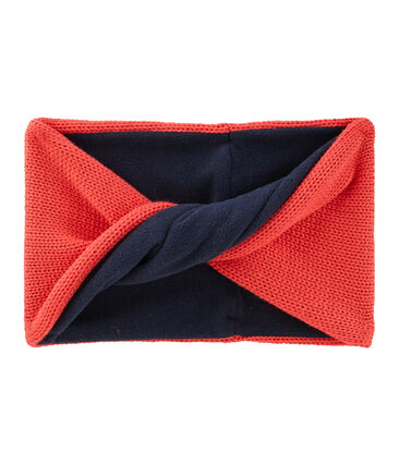 Snood enfant mixte rouge Signal