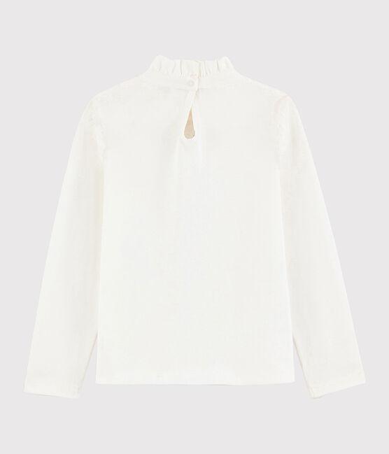 Tee shirt à collerette enfant fille blanc Marshmallow