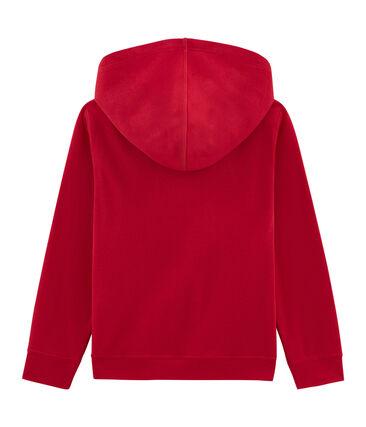 Sweatshirt à capuche enfant garçon rouge Terkuit