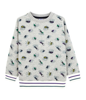 Sweat shirt enfant garçon gris Beluga / blanc Multico