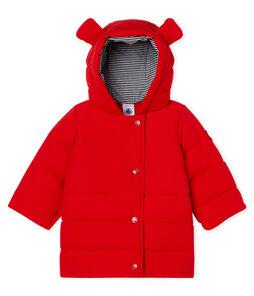 Doudoune bébé fille en microfibre rouge Terkuit