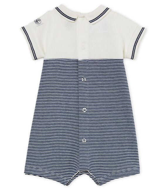 Combicourt bébé garçon bleu Medieval / blanc Marshmallow