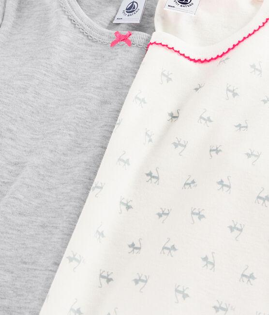 Lot de 2 tee-shirts manches courtes imprimé chat petite fille lot .