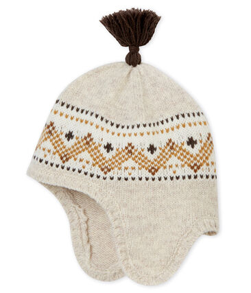 Bonnet en tricot jacquard bébé garçon
