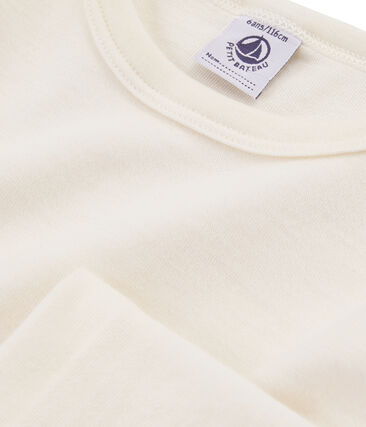Tee-shirt manches longues enfant en laine et coton