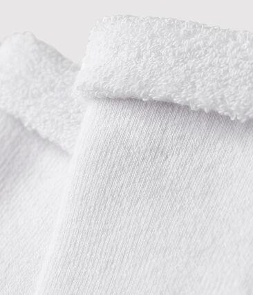 Chaussettes bébé en éponge blanc Ecume