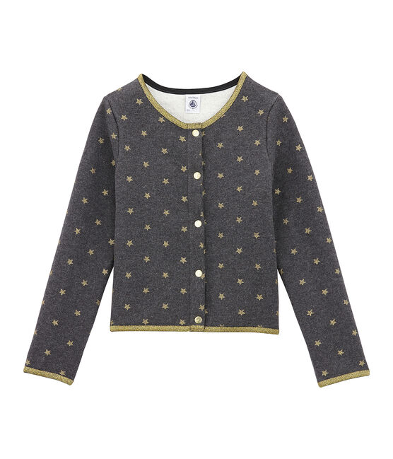 Cardigan enfant fille noir City / jaune Dore