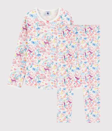 Pyjama imprimé jungle petite fille en coton