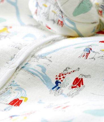 Ensemble pyjama et chaussons bébé fille blanc Marshmallow / blanc Multico