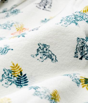 Sweatshirt à capuche zippé bébé garçon imprimé blanc Marshmallow / blanc Multico