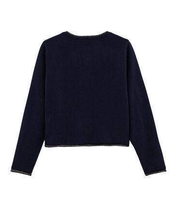 Cardigan tricot enfant fille bleu Smoking