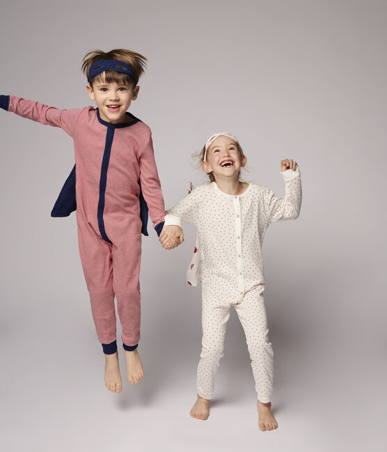 Combinaison déguisement super-héros petit garçon en coton rouge Terkuit / blanc Marshmallow