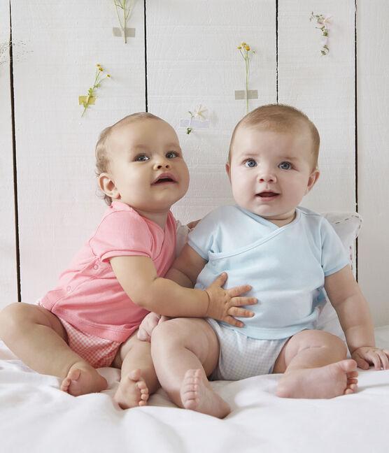 Combicourt faux deux-pièces bébé blanc Marshmallow / rose Gretel