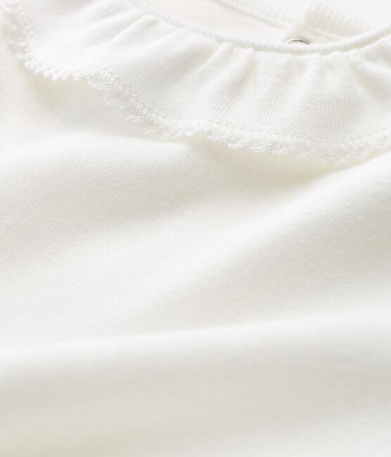 Body manches courtes avec collerette bébé fille blanc Marshmallow
