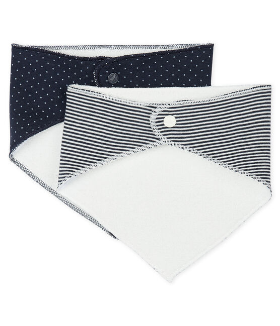 Lot de 2 bandanas-bavoirs bébé fille lot .