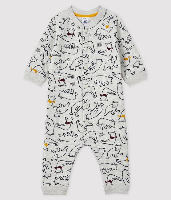 Combinaison longue bébé garçon gris Beluga / blanc Multico