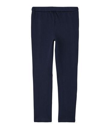 Pantalon maille enfant fille bleu Smoking Cn