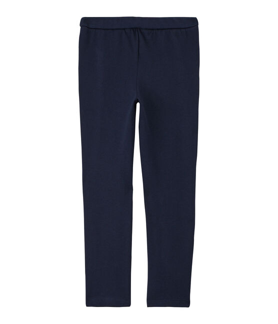 Pantalon maille enfant fille bleu Smoking Cn